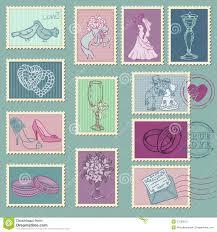 timbre poste mariage timbres poste de mariage photos stock image 27038513