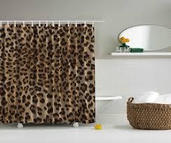 Animal Print Bathroom Ideas Bathroom Elegant Decorating Ideas With Swag Shower Curtain Fabric