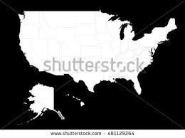 map of the united state transparent high detailed grey map united stock vector 667600642