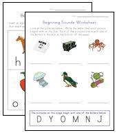 beginning sounds worksheets all kids network