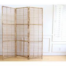 Folding Screen Room Divider Vintage Bamboo Rattan Folding Screen Room Divider Chairish