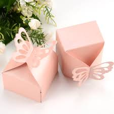 butterfly favor boxes 50 packs butterfly wedding favour boxes candy gift sweet cake