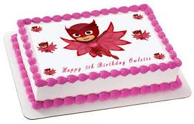 cake topper pj masks 4 owlette edible cake topper cupcake toppers edible