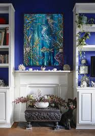 european chic art deco apartment of blue living room aug14 idolza
