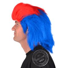 Red White Blue Halloween Costumes Red White Blue Afro Wigs Discount Wig Supply