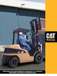 catalogo montacargas 25 gp dp caterpillar