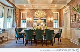 Dining Rooms With Damask Wall Patterns Home Design Lover - Damask dining room chairs
