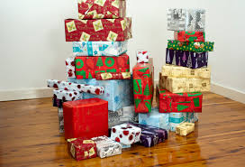 wrapped christmas boxes boxes wrapped in paper with christmas patterns 8223 stockarch