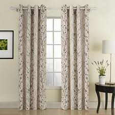 Curtains One Panel Or Two Twopages Contemporary Print Branches Energy Saving Grommet Top