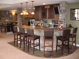 Cool Basement Ideas Awesome Bar In Basement Design Ideas With Modular Curved Kitchen