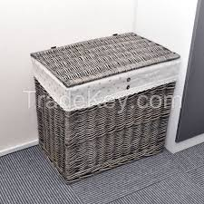 Wicker Clothes Hamper With Lid I Will Rectangle Wicker Hand Woven Family Size Divided Double