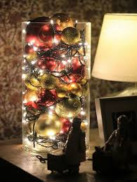 Lights In Vase Home Dzine Pop Tree Baubles And Fairy Lights In A Glass Vase For A