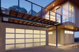 modern aluminum sleek sophisticated aluminum glass garage doors