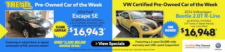 used volkswagen beetle hatchback 2 volkswagen dealership in morris county trend motors volkswagen
