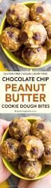 peanut butter chocolate chip cookie dough bites vegan gluten