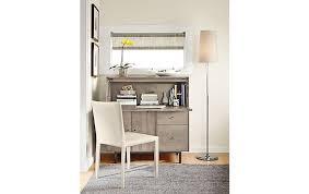 Modern Desk Armoire Hudson Office Armoire In Shell Modern Office Furniture Room