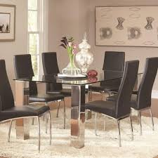 Coaster Bellini Contemporary Glass Dining Table Coaster Fine - Contemporary glass dining room furniture