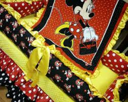 Crib Bedding Set Minnie Mouse by Minnie Mouse Crib Etsy