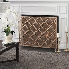 jalama single panel iron fireplace screen u2013 gdf studio