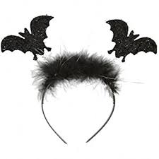 bat headband black glitter bat headband deeley boppers fancy dress