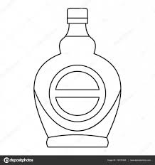 champagne bottle outline bottle icon outline style u2014 stock vector ylivdesign 142181266