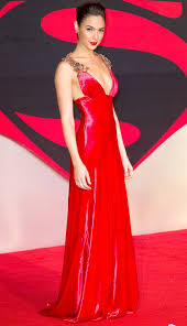 dress gal gal gadot in a prada dress with embellished straps and a