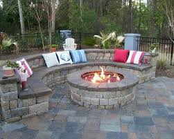 Round Brick Fire Pit Design - fire pit with cooking grill aka cowboy cooker grilling