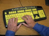 Keyboard For The Blind San Diego Center For The Blind Low Vision Rehabilitation Courses