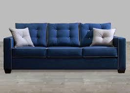 Contemporary Blue Fabric Sofa - Cloth sofas designs