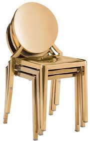 Gold Dining Chairs Gold Dining Chairs Stylish Eclispe Chair Zuo 100553 Modern With