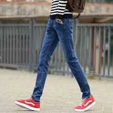 Ripped Denim Jeans For Men Korean Style Narrow Feet Black Skinny Jeans For Men Pants