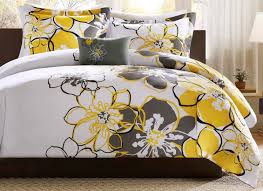 bedding set dark grey and yellow bedding yellow and gray bedding