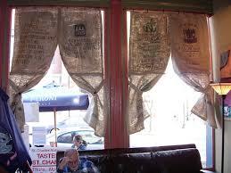 Feed Sack Curtains Potato Boutique Burlap Curtains Coffee Sack Style
