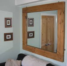 Wood Frames For Bathroom Mirrors - wooden frame wall mirror u2022 bathroom mirrors and wall mirrors