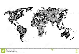 Map Of The World Black And White by Hand Drawn Map Of The World Stock Photos Image 35228653