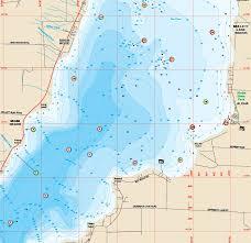 map of michigan lakes burt lakes fishing map