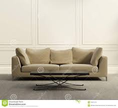 contemporary classic living room beige leather sofa stock images