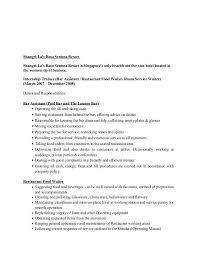duties of a waitress for resume sample cv for waitresses waitress