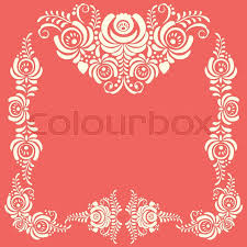 russian ornaments frames in gzhel style gzhel brand of