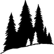 pine tree silhouette clip simple living tree in the places
