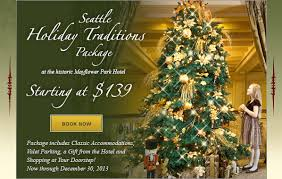 holiday traditions at the historic mayflower park hotel starting
