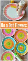 do a dot flower craft for kids preschool spring craft activity