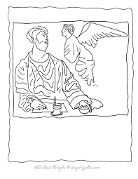 poinsettia coloring pages saint matthew and the angel coloring pages from our religious