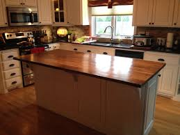 hand crafted solid walnut kitchen island top by custom furnishings