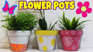 Craft Ideas To Decorate Your Home Pots Beautiful Plastic Flower Pot Craft Ideas Full Image For