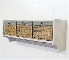 Storage Bookshelves With Baskets by Wall Shelves With Storage Baskets