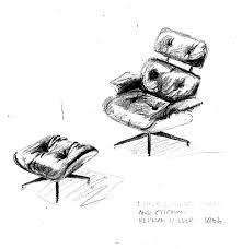 Herman Miller Lounge Chair And Ottoman by Lisa Sneddon Freehand Sketch Herman Miller Eames Lounge Chair