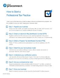 start your own professional tax practice intuit proconnect