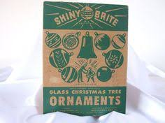 vintage empty shiny brite ornament box vintage
