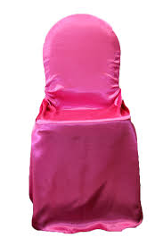 fuschia chair universal satin self tie chair cover fuchsia at cv linens cv linens